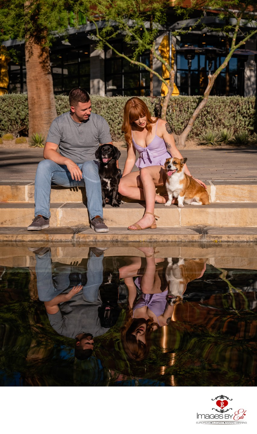 Las Vegas Pet Photographer | Corgis on Las Vegas Pet Photo | Pet Photography with Family  in Summerlin | Images By EDI