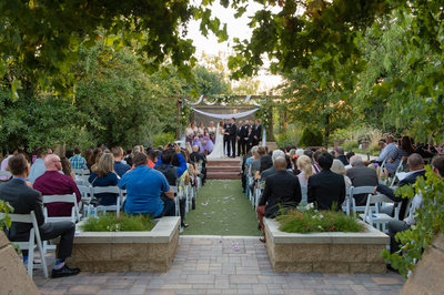 Outdoor Wedding ceremony at Springs Preserve