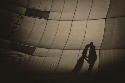Las Vegas hot air balloon wedding