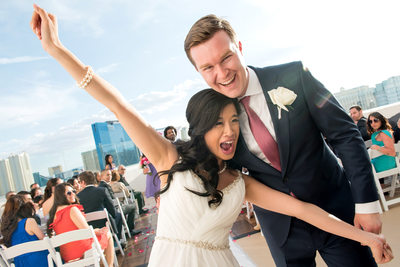 Platinum Hotel Las Vegas Misora rooftop wedding photo