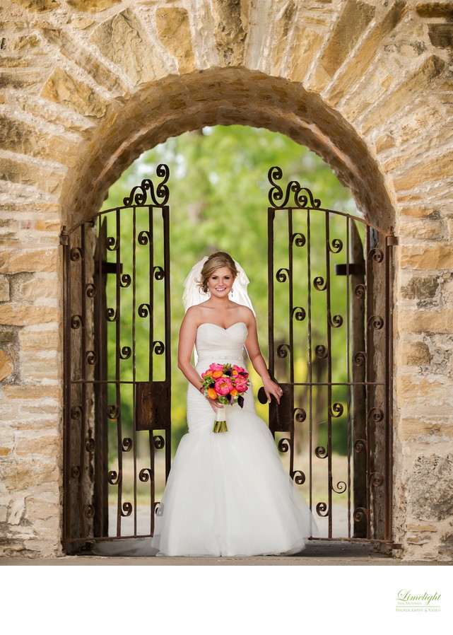 Bridal Portrait at Mission San Jose San Antonio Texas - Bridals