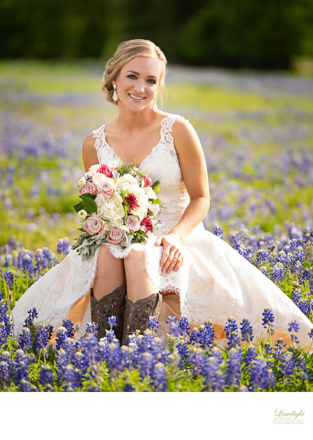 Bluebonnet Bridal Portrait
