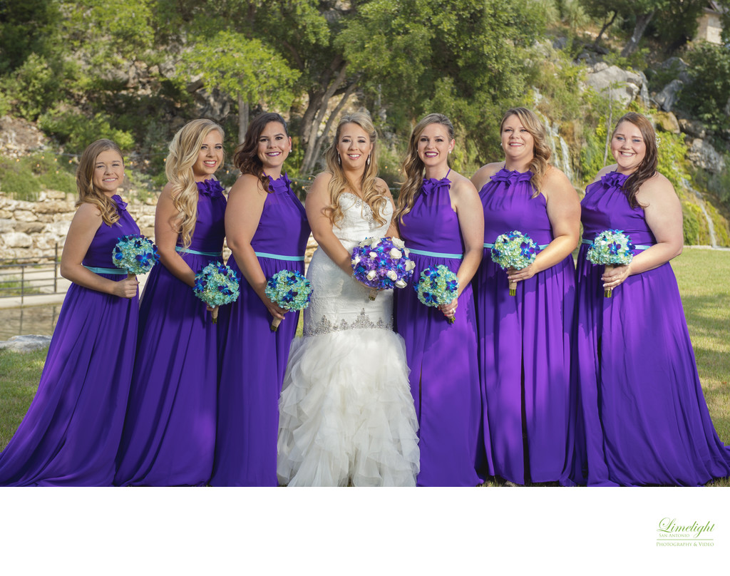 Bridal Party Portraits at Hidden Falls Remis Ridge
