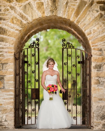 Bridal Portrait at Mission San Jose San Antonio Texas