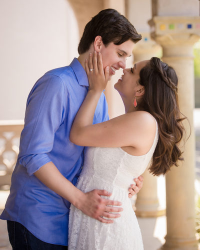 Romantic Engagement Session at McNay Museum