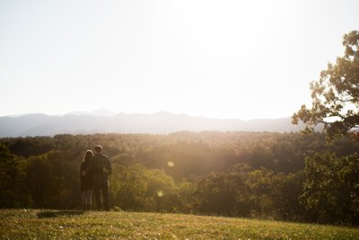 Gorgeous Biltmore Estate Engagement Session Sunset