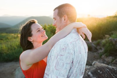 Sunset Black Balsam Knob Engagement Session