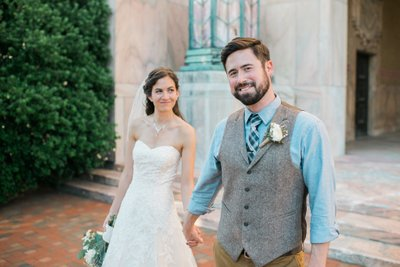 Asheville Pack Square Wedding Portrait