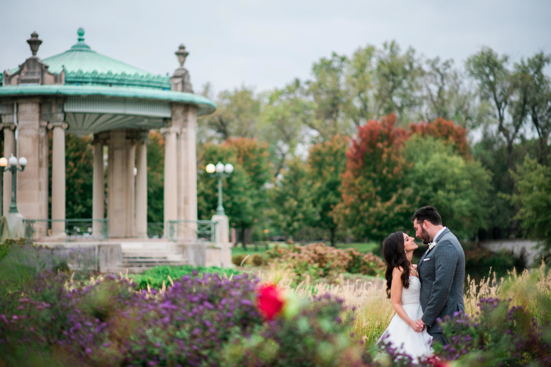 forest park overcast wedding pagoda circle
