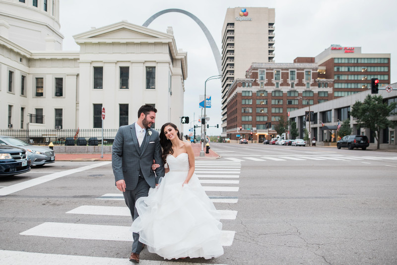 Hilton at the Ballpark Wedding lifestyle arch street
