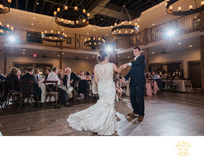 Silver Oaks Chateau reception lighting first dance