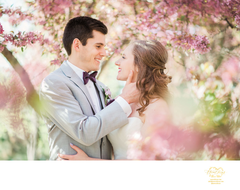romantic spring wedding portraits forest park st louis