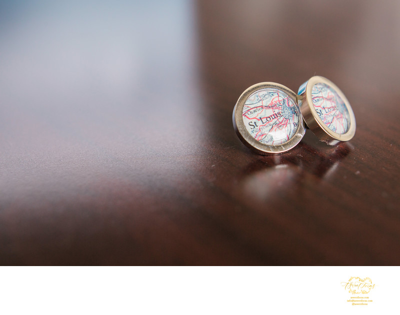 grooms gift st louis map cuff links wedding