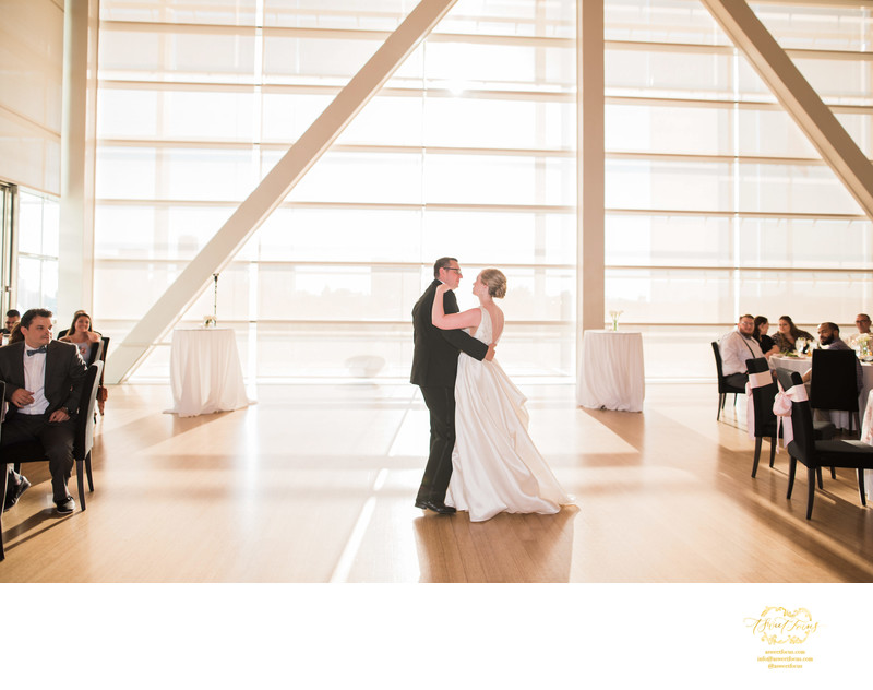 clinton library little rock golden sun first dance