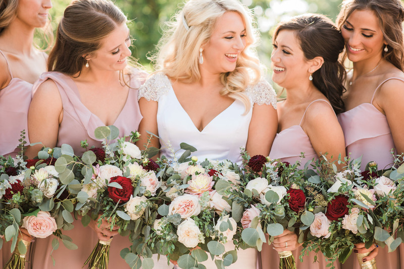 warm fun bridesmaids st louis wedding photographer