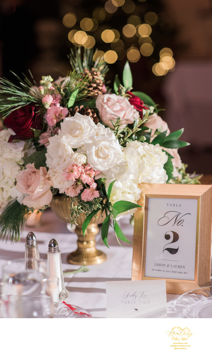 reception flower details franklin room st louis