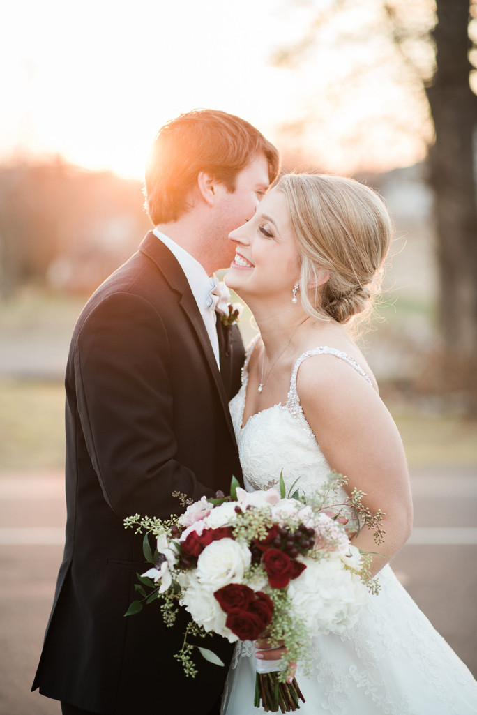 sunkissed sunset wedding couple stone house st charles