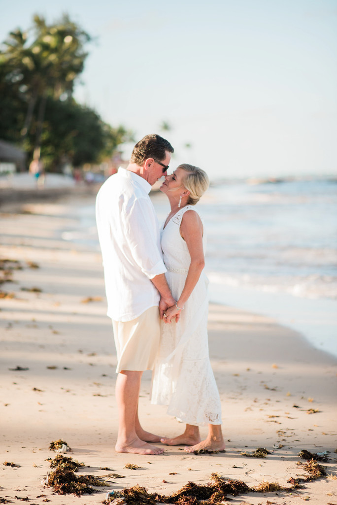 punta cana wedding bride groom beach romantic