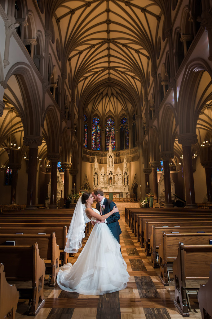 St. Francis Xavier Church epic wedding image ocf