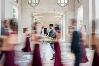 slow exposure-forest-park-wedding party-st-louis
