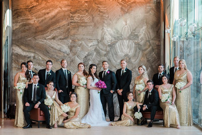 The Four Seasons wedding St Louis vanity fair pose