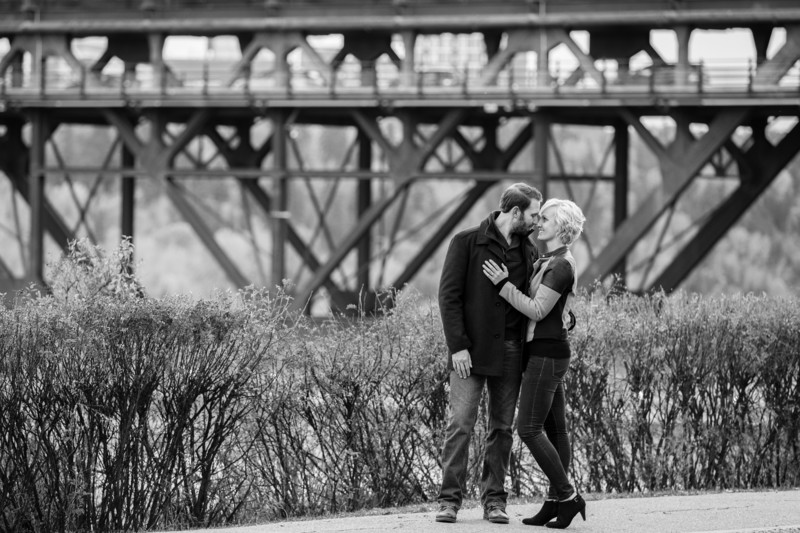 High Level Bridge Edmonton Engagement Photographer