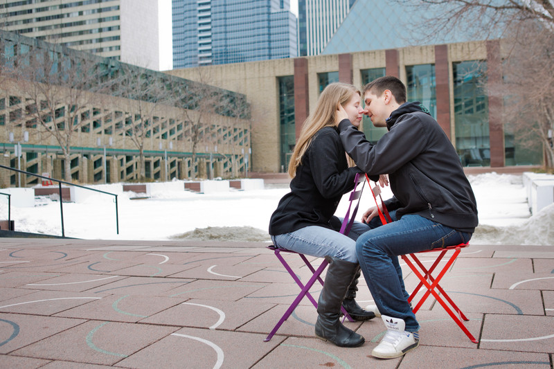 Edmonton City Hall Engagement Photos