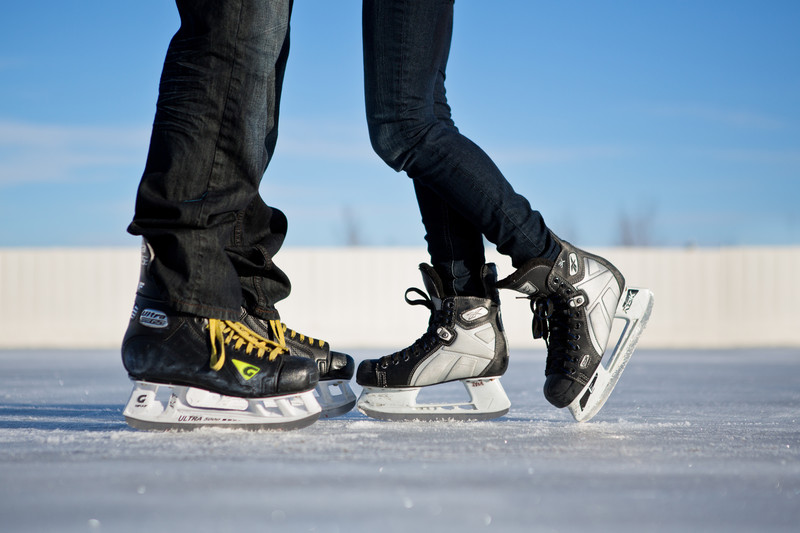 Edmonton Engagement Photos Hockey