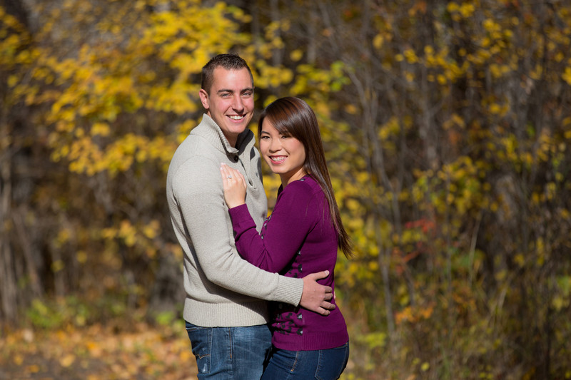 Fall Engagement Portraits Edmonton