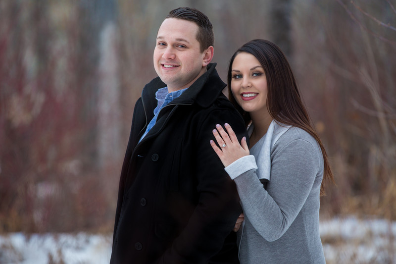Devon Winter Engagement Portraits