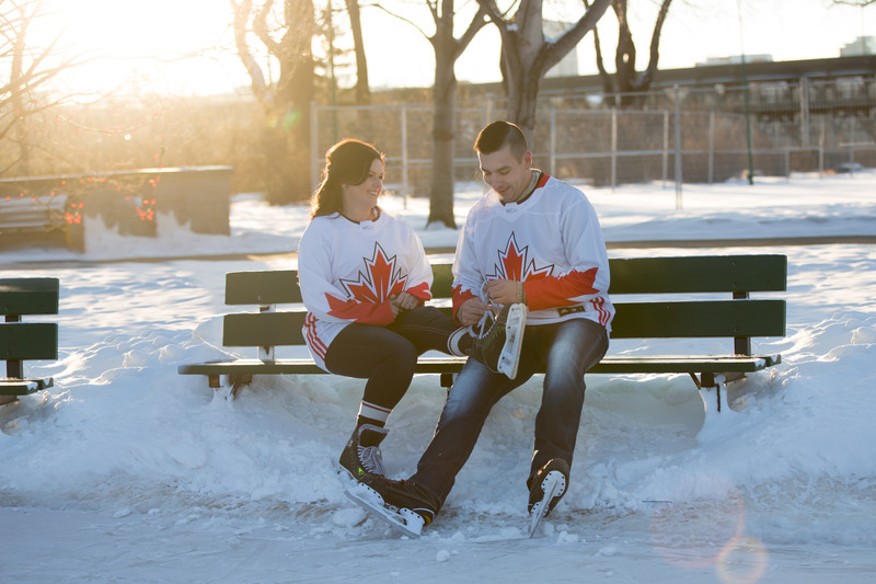 Edmonton Skating Engagement Portraits