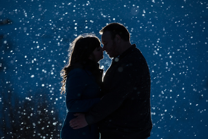Winter Engagement session Edmonton