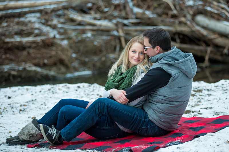Mill Creek Ravine Winter Engagement Portraits