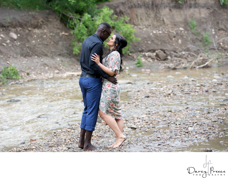 Biracial Couple Edmonton Engagement Photos