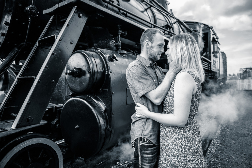 Alberta Railway Museum Engagement Photographer
