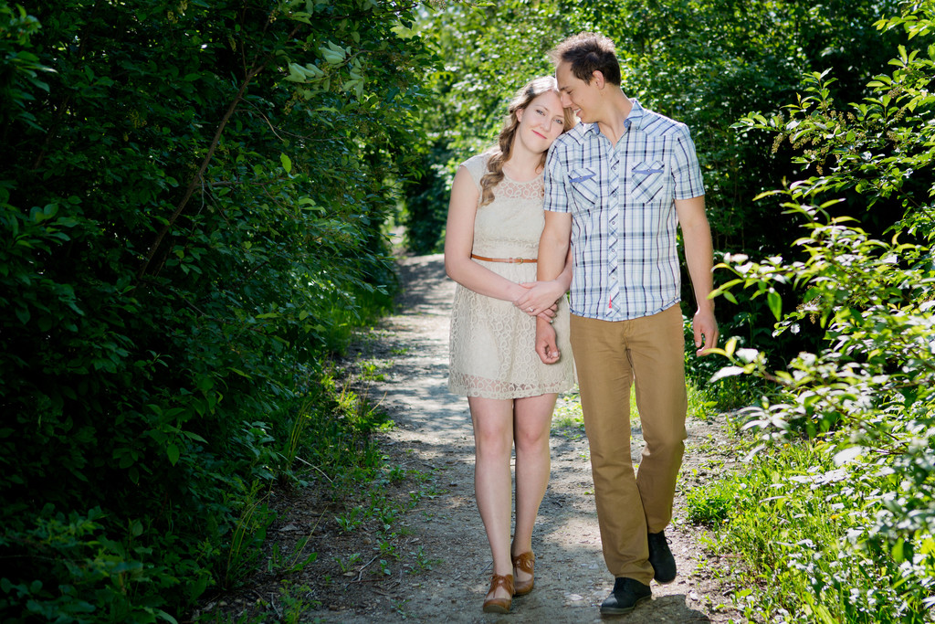 Devon River Valley Engagement Portraits