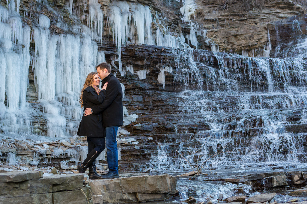 Albion Falls Hamilton Engagement Photographer