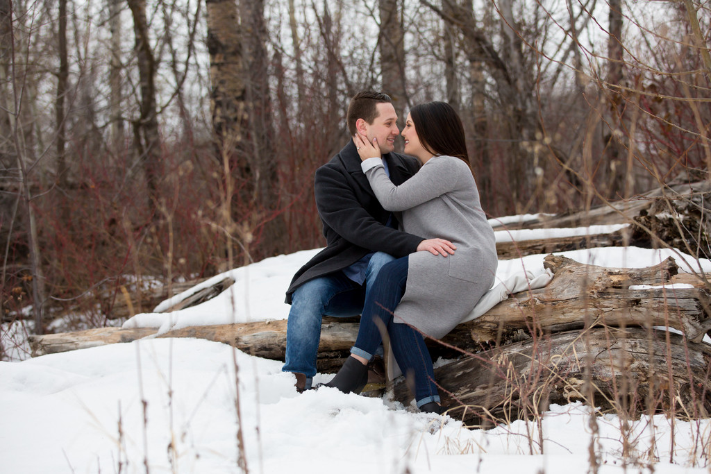 Winter Engagement Portraits Edmonton