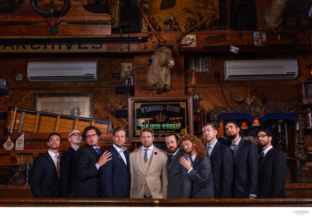 The World Famous Dark Horse Groomsmen Portrait