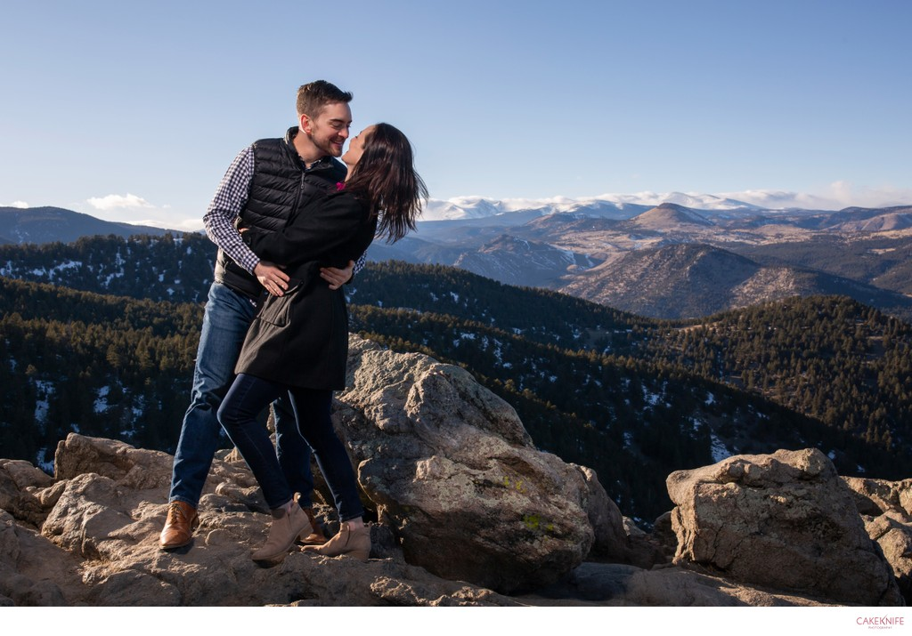 Lost Gulch Lookout Engaged Couple Photoshoot