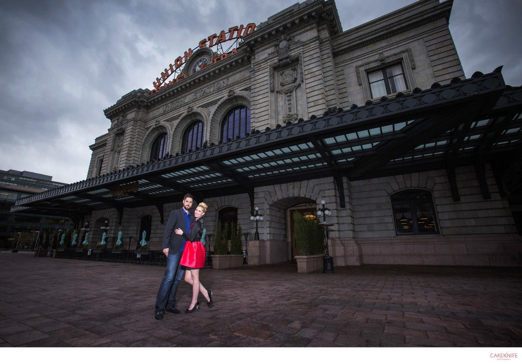 Union Station Denver Colorado Engagement Shoot