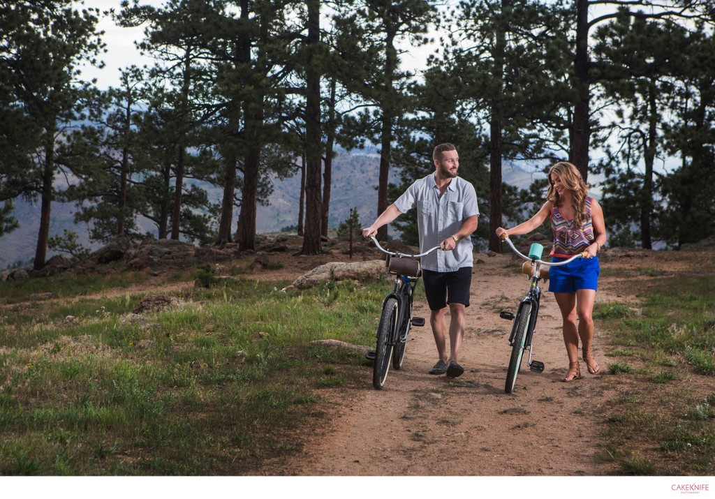 Lookout Mountain Golden Colorado Bicycle Couple