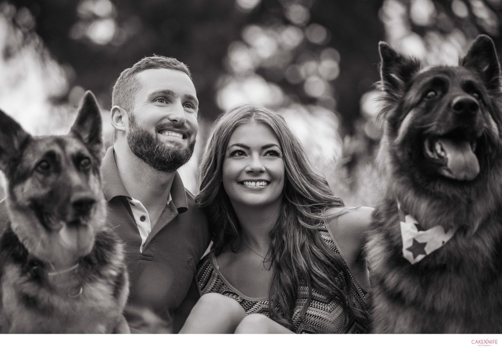 Lookout Mountain Dog Engagement photoshoot