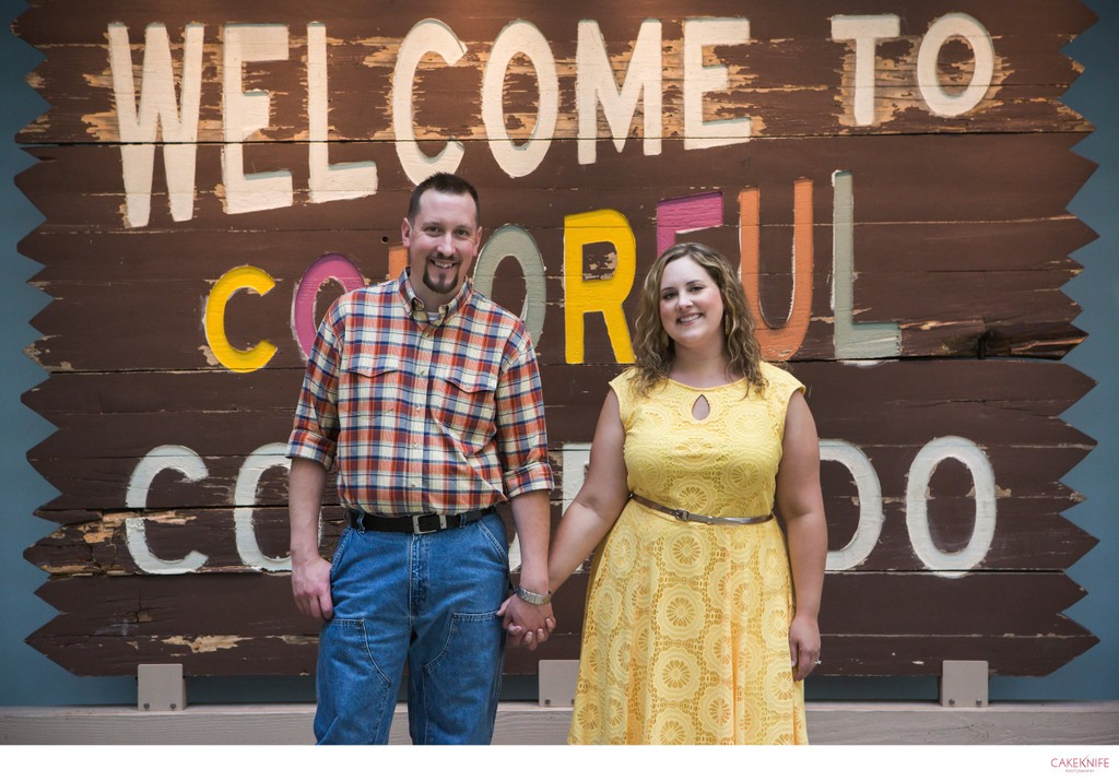 Rustic Welcome to Colorado Engagement Shoot