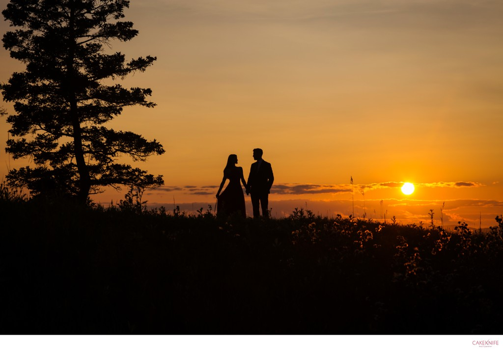 North Haven Maine Sunset Engagement Shoot
