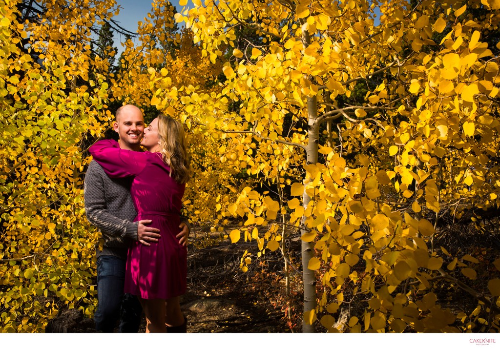 Nederland Colorado Fall Aspens Engagement