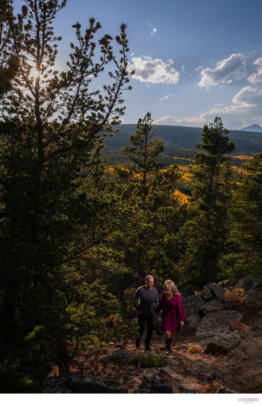 Nederland Colorado Fall Couples Engagement Shoot