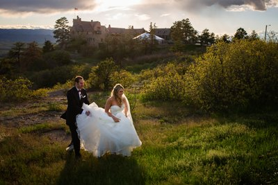 Cherokee Ranch Castle Fairytale Colorado Bride