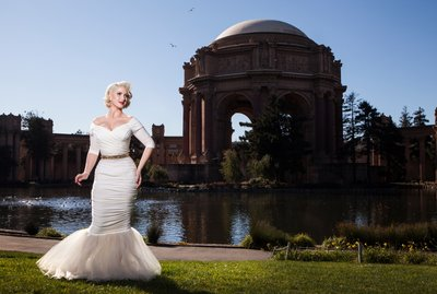 Marilyn Monroe Wedding Palace of Fine Arts Portrait