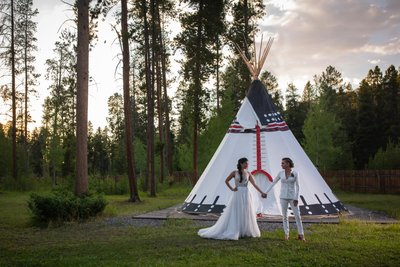 Arapaho Valley Ranch Gay Wedding Two Brides